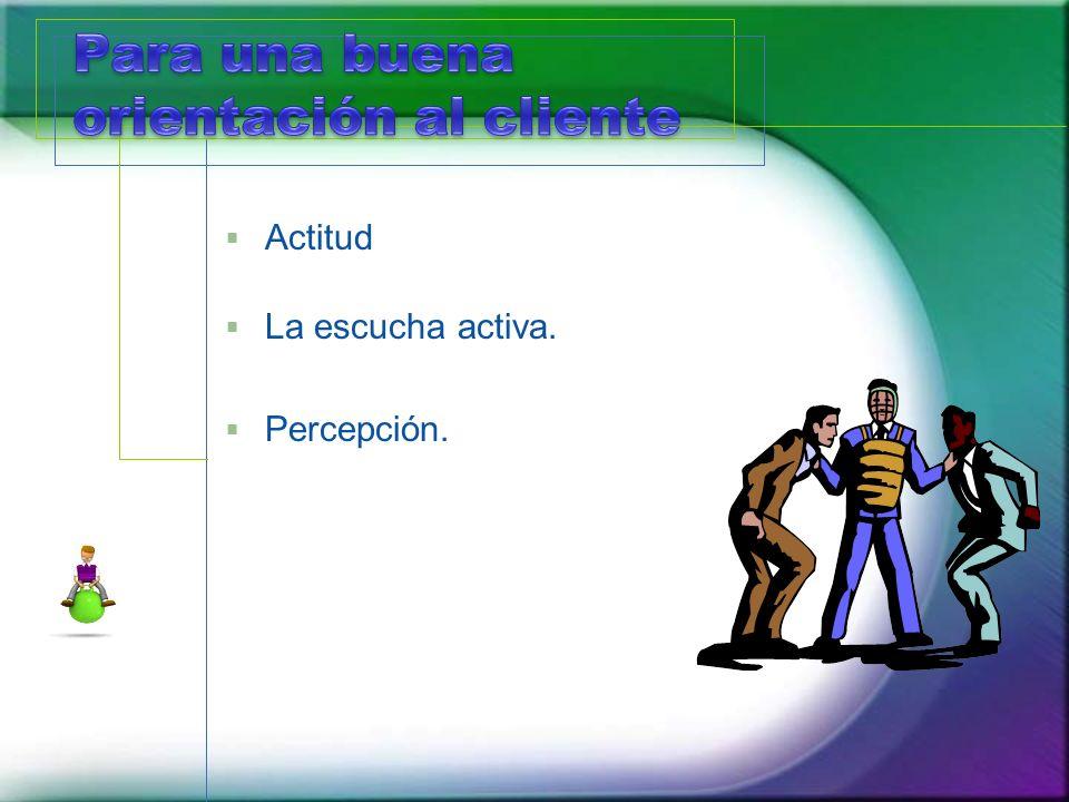 Actitud La escucha activa. Percepción.
