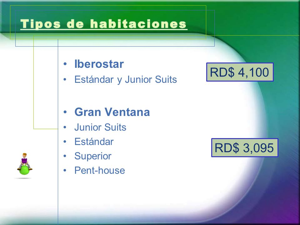 Iberostar Estándar y Junior Suits Gran Ventana Junior Suits Estándar Superior Pent-house RD$ 4,100 RD$ 3,095