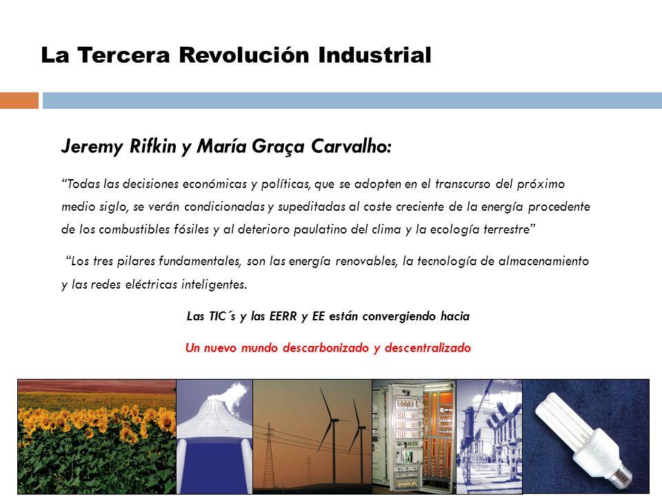 La Tercera Revolución Industrial Jeremy Rifkin y María Graça Carvalho: Todas las decisiones económicas y políticas, que se adopten en el transcurso de