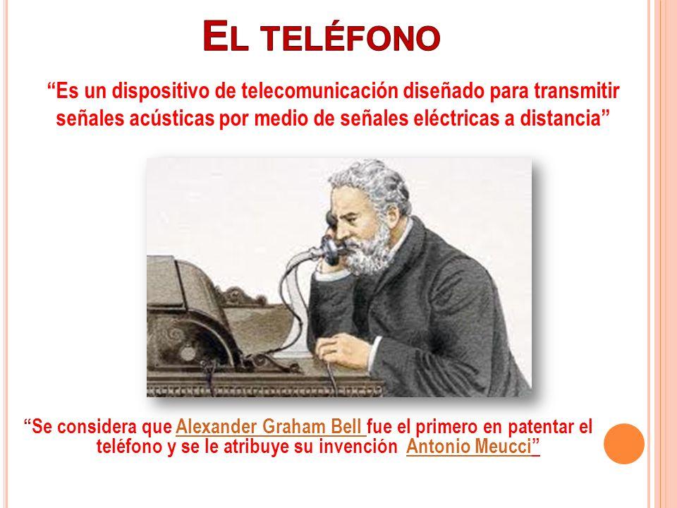 Se considera que Alexander Graham Bell fue el primero en patentar el teléfono y se le atribuye su invención Antonio MeucciAlexander Graham Bell Antoni