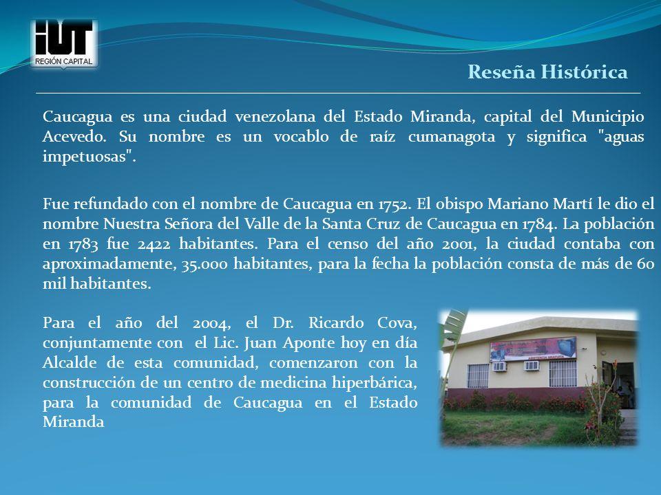 Reseña Histórica Caucagua es una ciudad venezolana del Estado Miranda, capital del Municipio Acevedo. Su nombre es un vocablo de raíz cumanagota y sig
