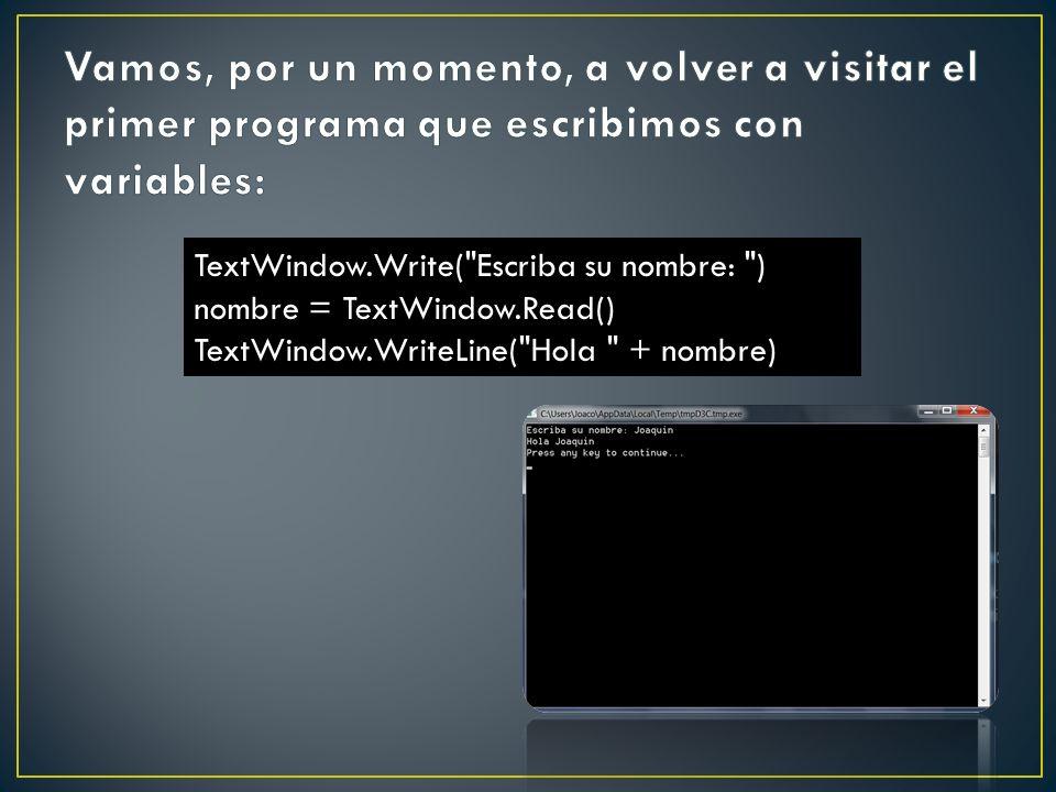 TextWindow.Write(