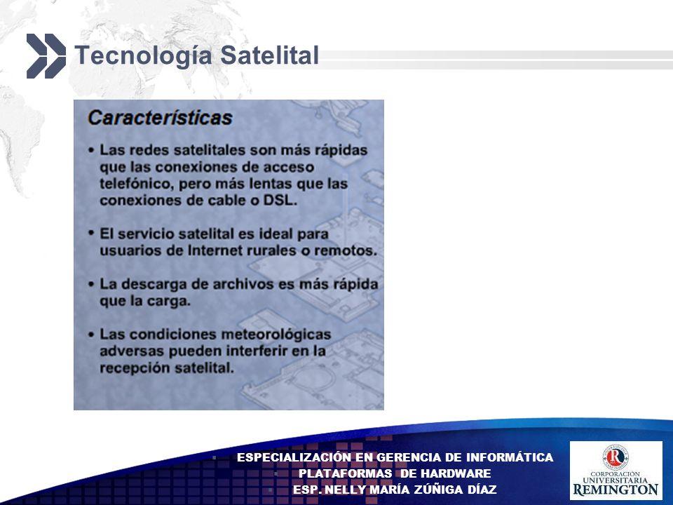 Add your company slogan LOGO Tecnología Satelital ESPECIALIZACIÓN EN GERENCIA DE INFORMÁTICA PLATAFORMAS DE HARDWARE ESP. NELLY MARÍA ZÚÑIGA DÍAZ