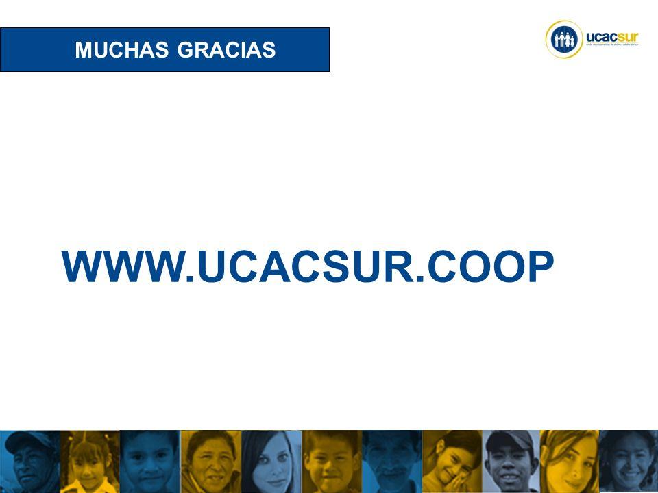 UCACSUR Cuenca: Eugenio Espejo 8-38 y Padre Aguirre Teléfono: 593 7 2838195 WWW.UCACSUR.COOP MUCHAS GRACIAS WWW.UCACSUR.COOP