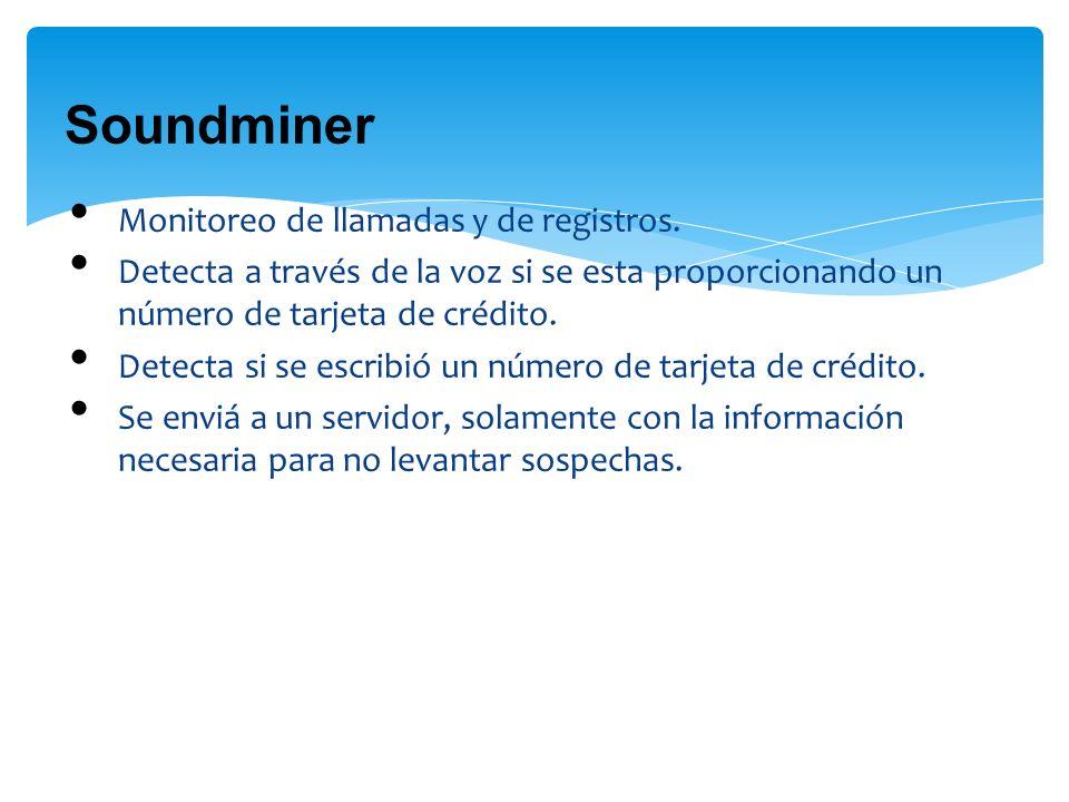 Soundminer Monitoreo de llamadas y de registros.
