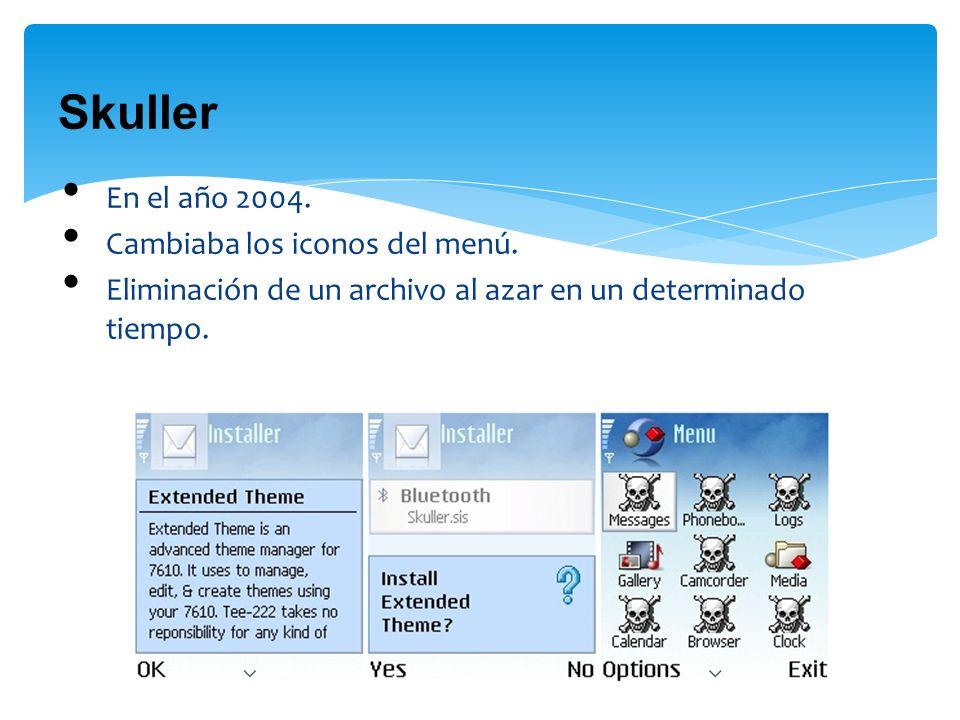 Skuller En el año 2004. Cambiaba los iconos del menú.