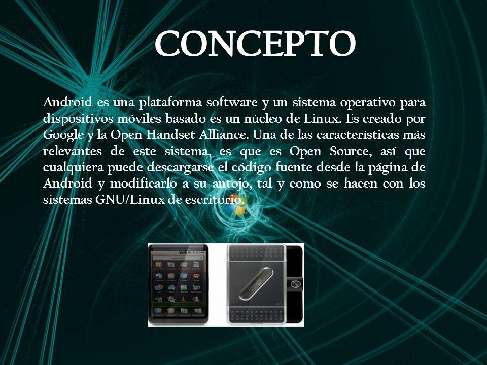 Android es una plataforma software y un sistema operativo para dispositivos móviles basado es un núcleo de Linux.