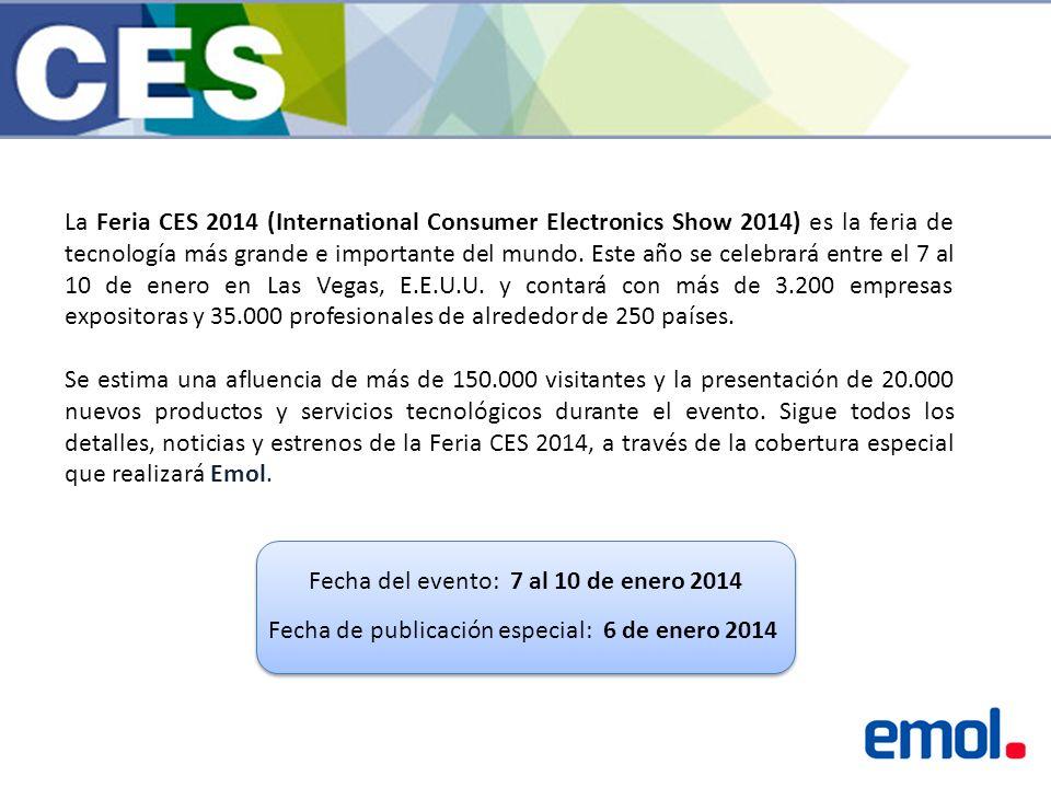 La Feria CES 2014 (International Consumer Electronics Show 2014) es la feria de tecnología más grande e importante del mundo.