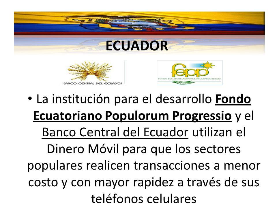 La institución para el desarrollo Fondo Ecuatoriano Populorum Progressio y el Banco Central del Ecuador utilizan el Dinero Móvil para que los sectores