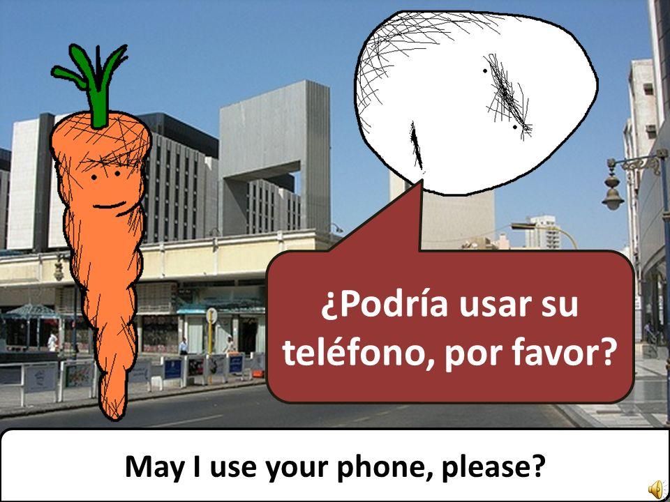 Lo siento, pero no tengo teléfono. Sorry, I dont have one.
