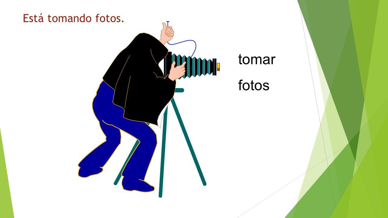 ¿Qué está haciendo? tomar fotos Está tomando fotos.