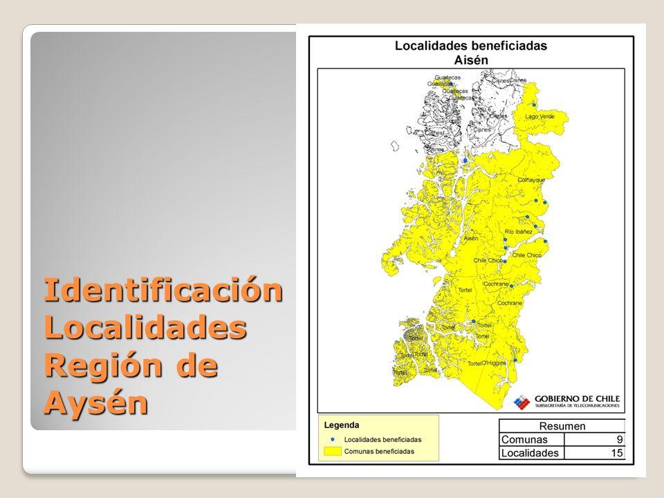 Identificación Localidades Región de Aysén