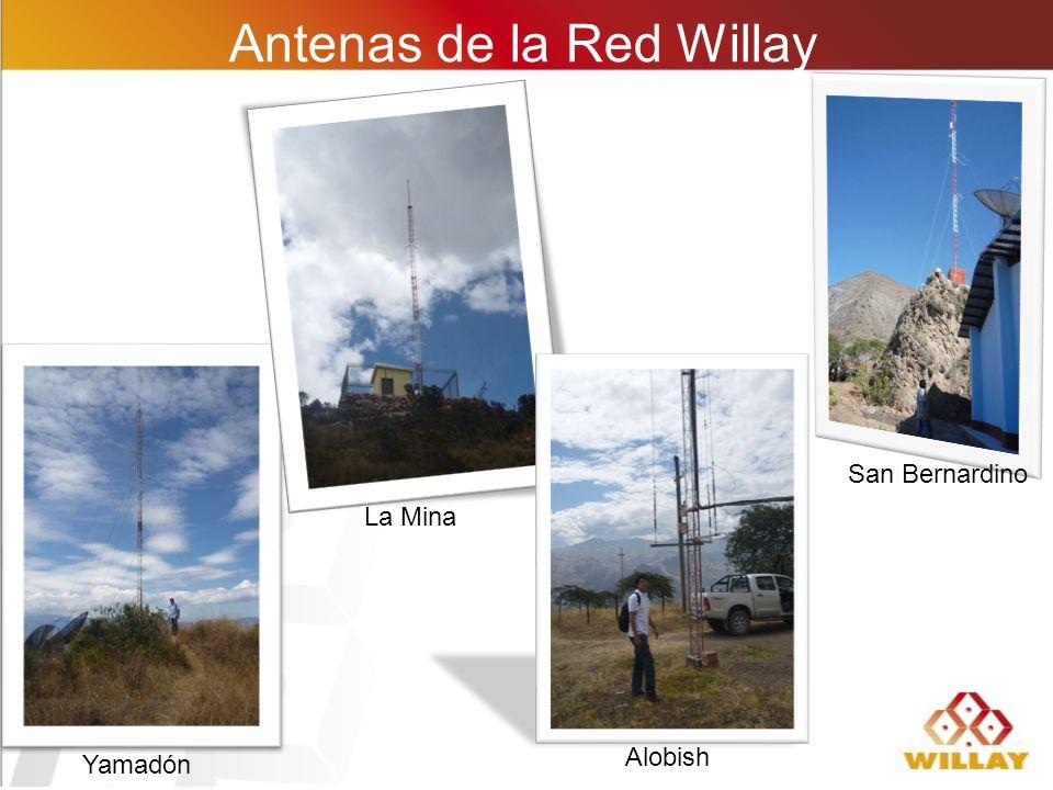 Antenas de la Red Willay Yamadón La Mina Alobish San Bernardino