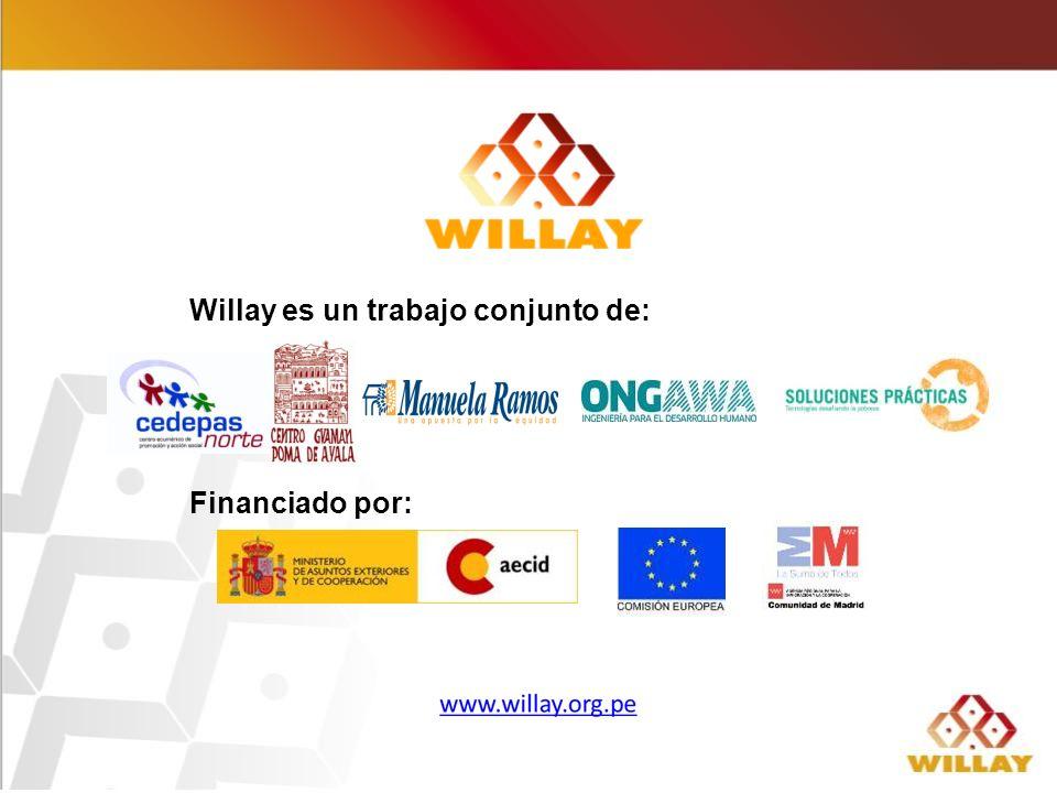Willay es un trabajo conjunto de: Financiado por: