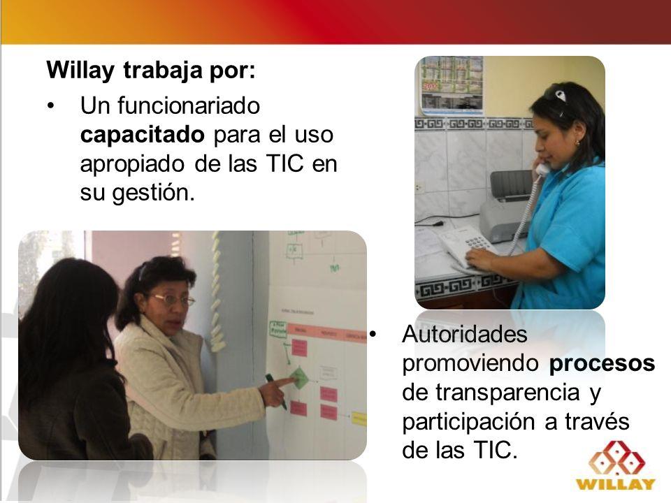 Autoridades promoviendo procesos de transparencia y participación a través de las TIC.
