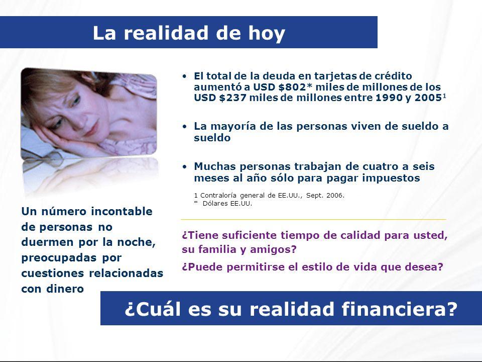 ¿Cuál es su realidad financiera? Un número incontable de personas no duermen por la noche, preocupadas por cuestiones relacionadas con dinero El total