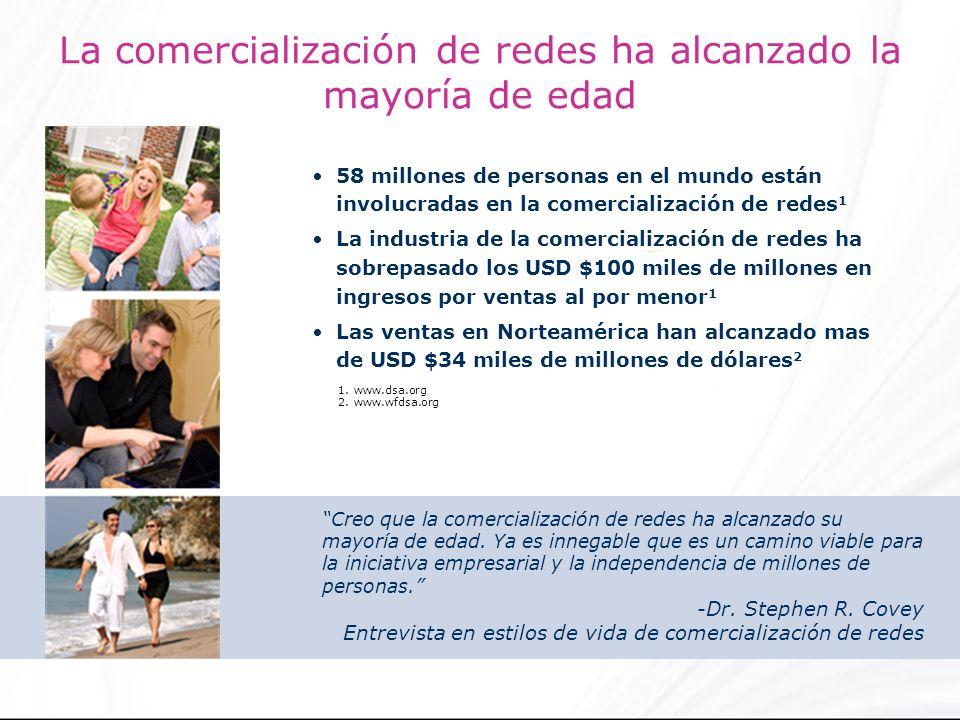 La comercialización de redes ha alcanzado la mayoría de edad 58 millones de personas en el mundo están involucradas en la comercialización de redes 1