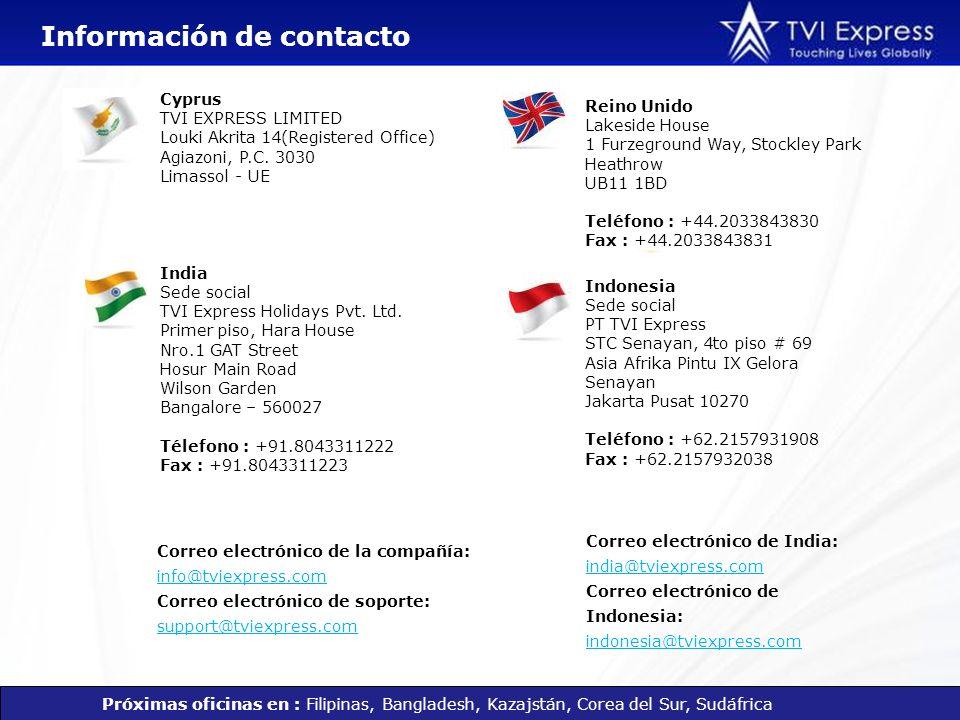 Correo electrónico de la compañía: info@tviexpress.com Correo electrónico de soporte: support@tviexpress.com info@tviexpress.com support@tviexpress.co