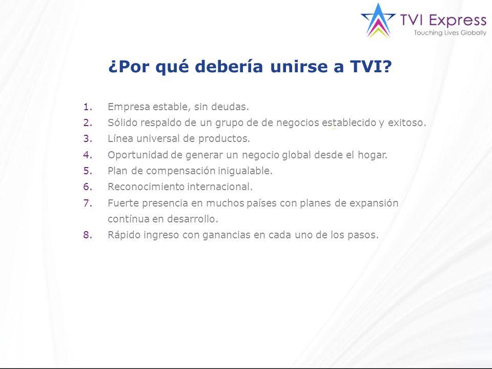 ¿Por qué debería unirse a TVI.1.Empresa estable, sin deudas.