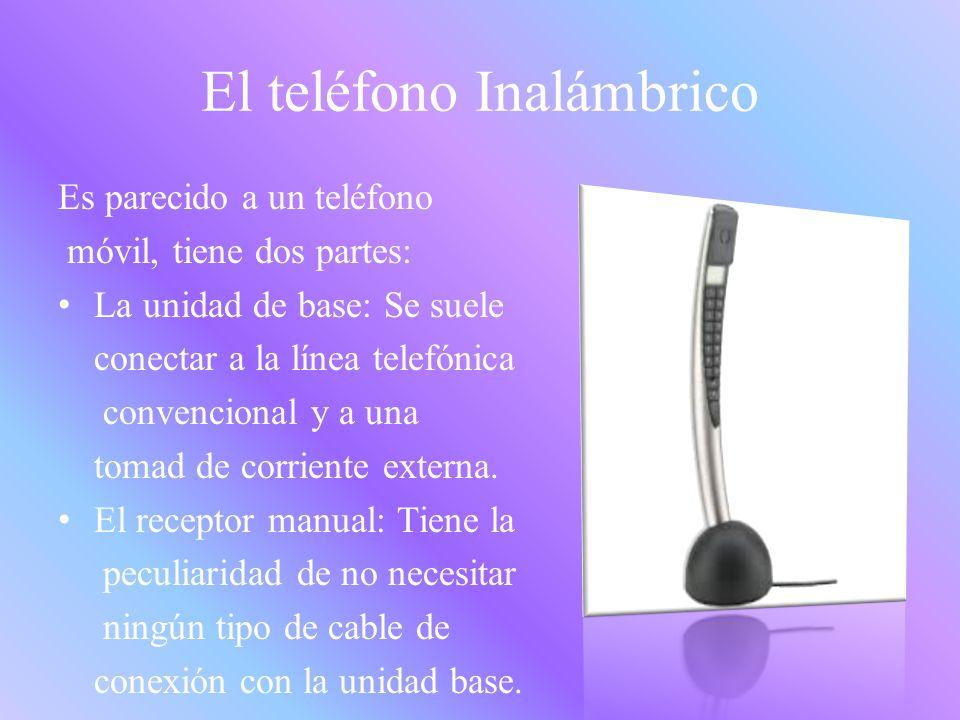 El Teléfono fijo Es un aparato que consta de dos transductores de energía: Un micrófono y un auricular.