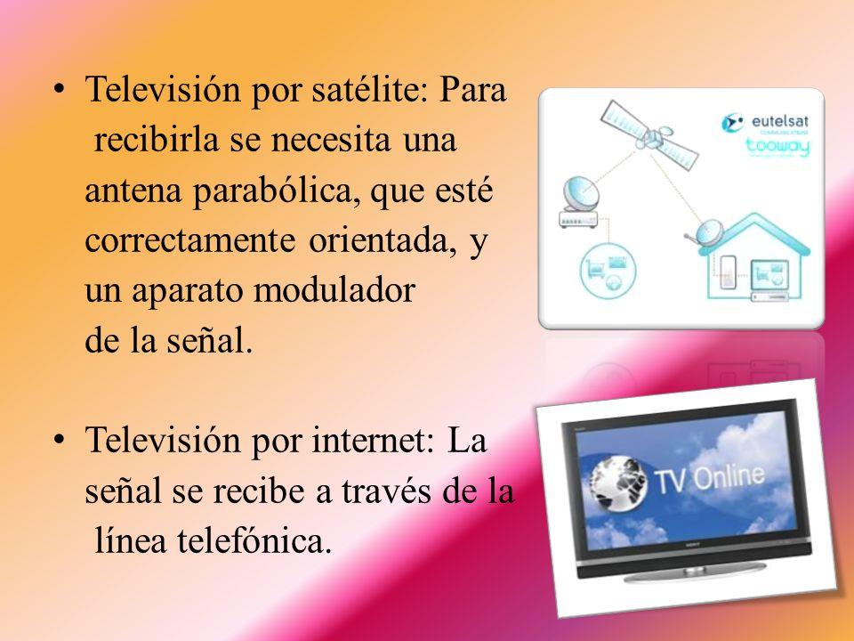 Envío y Recepción de las Señales de Televisión Para recibir las señales de televisión se emplean distintos sistemas: Televisión por ondas: Para transmitir y recibir imágenes de televisión, se emplean ondas de radio de una frecuencia más alta que la que tienen las ondas utilizadas para transmitir el sonido.