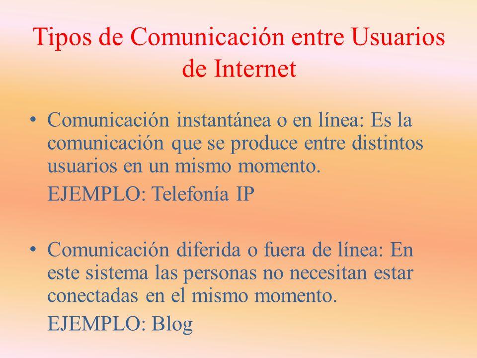 5. Comunicaciones a través de Internet