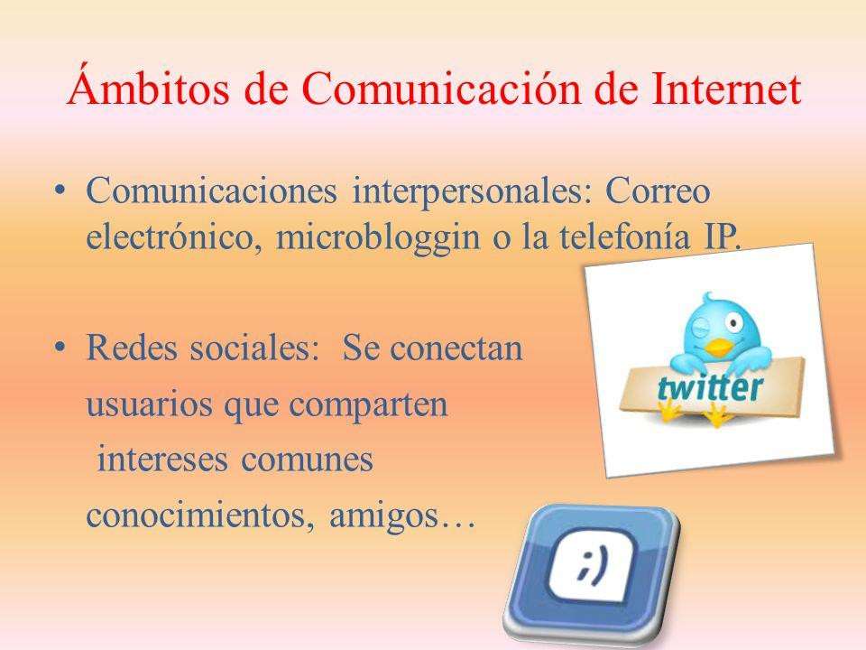 Tipos de Comunicación entre Usuarios de Internet Comunicación instantánea o en línea: Es la comunicación que se produce entre distintos usuarios en un mismo momento.