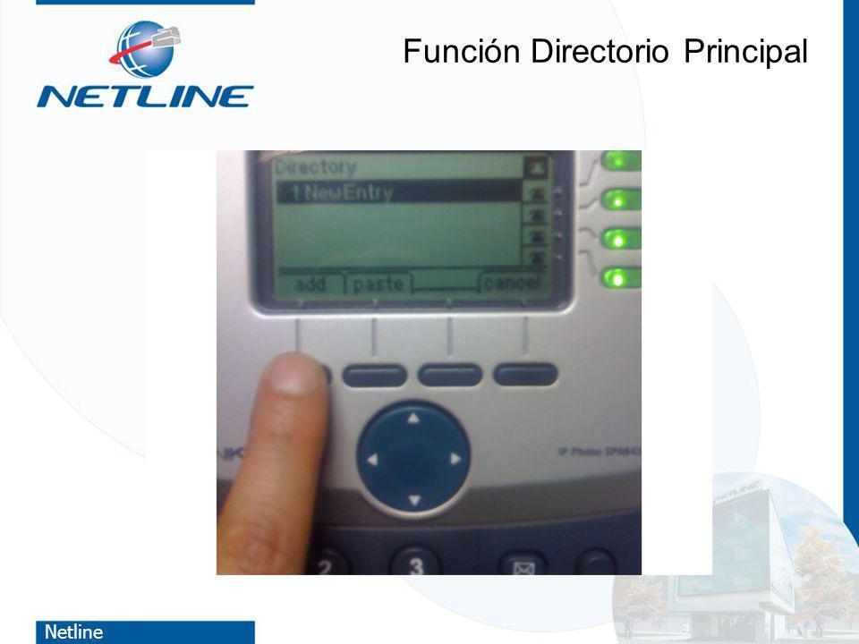 Netline Función Directorio Principal