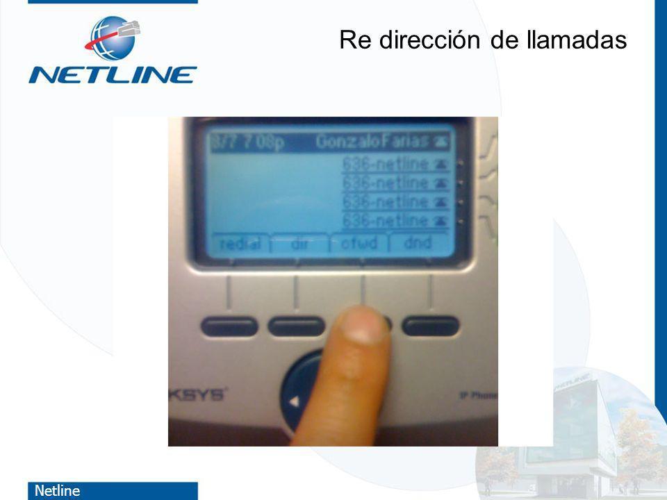 Netline Re dirección de llamadas
