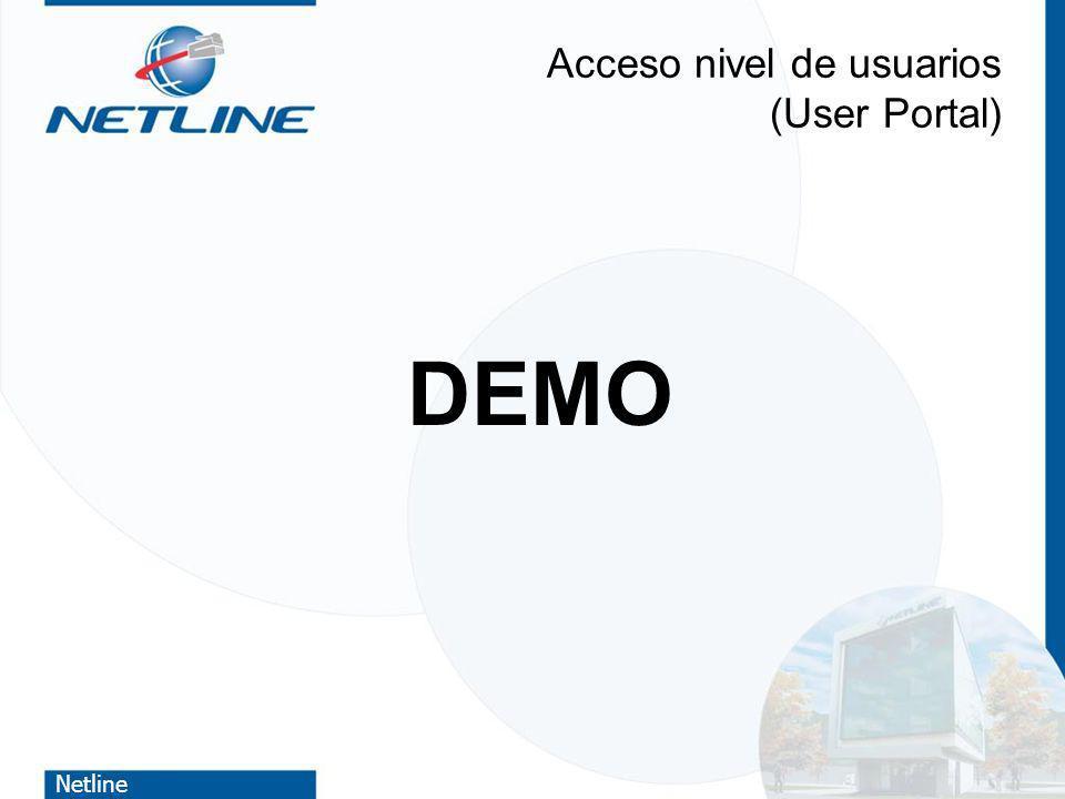 Netline Acceso nivel de usuarios (User Portal) DEMO