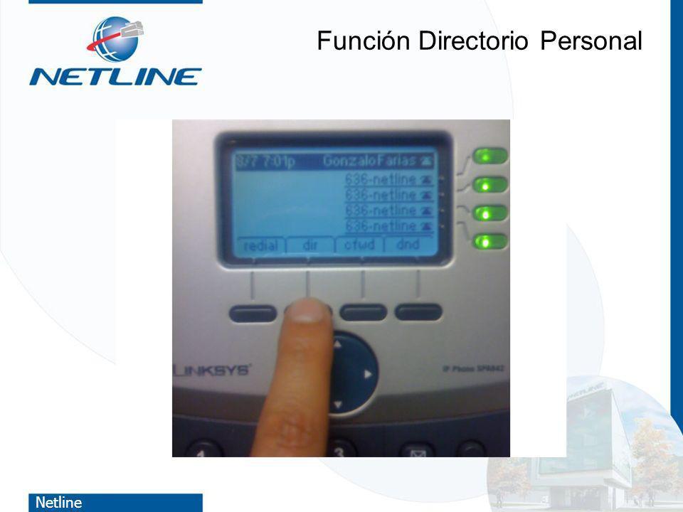 Netline Función Directorio Personal