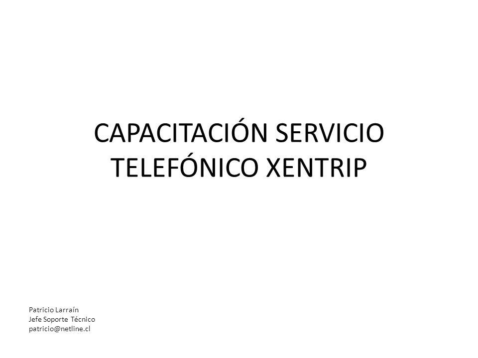 CAPACITACIÓN SERVICIO TELEFÓNICO XENTRIP Patricio Larraín Jefe Soporte Técnico patricio@netline.cl