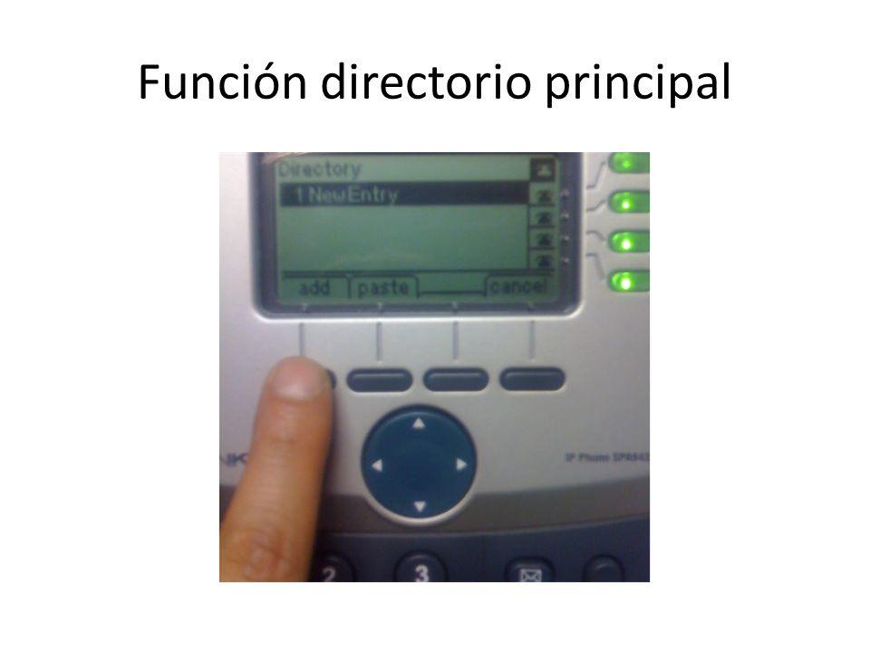 Función directorio principal