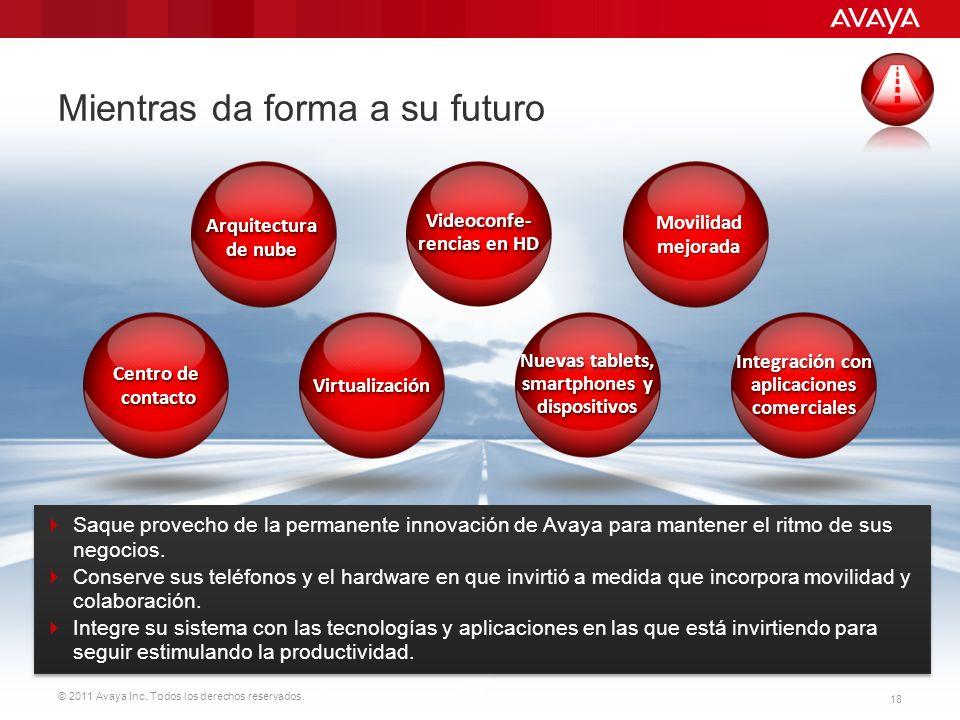© 2011 Avaya Inc. Todos los derechos reservados. 18 Mientras da forma a su futuro Saque provecho de la permanente innovación de Avaya para mantener el
