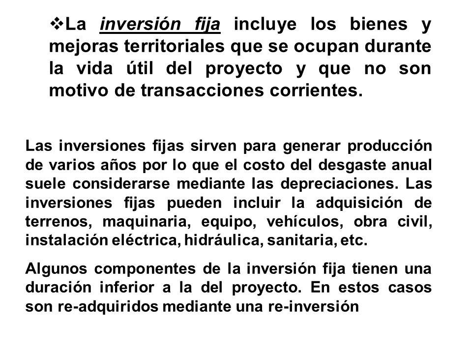 UBICACIÓN DE LOS CONCEPTOS POR RUBRO AL QUE PERTENECEN EN LA INVERSIÓN INVERSIÓN FIJAINVERSIÓN DIFERIDACAPITAL DE TRABAJO