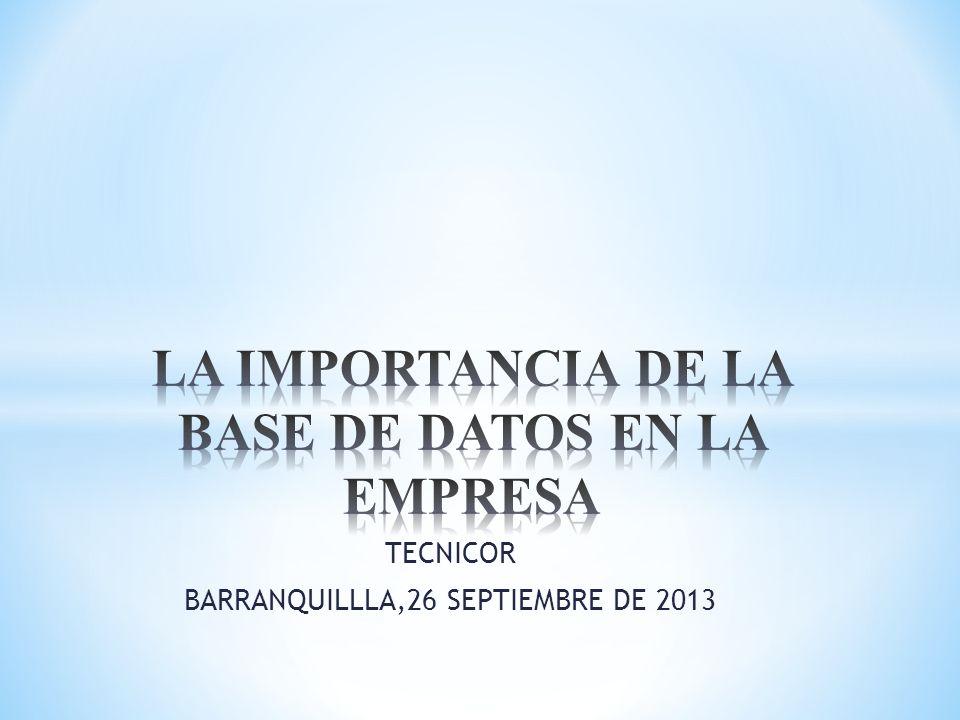 TECNICOR BARRANQUILLLA,26 SEPTIEMBRE DE 2013