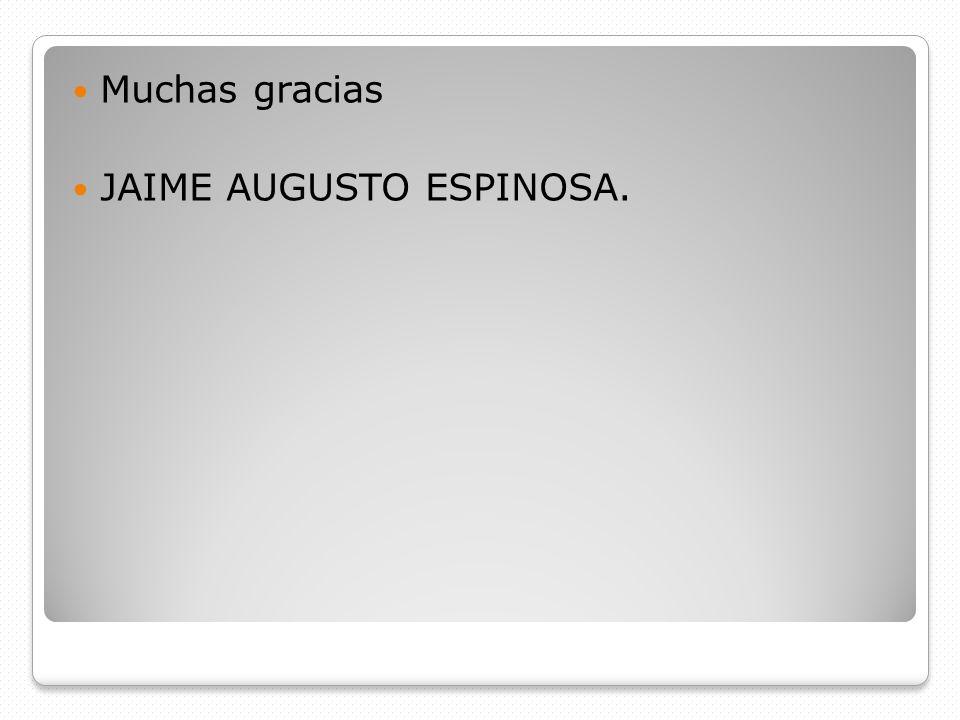 Muchas gracias JAIME AUGUSTO ESPINOSA.
