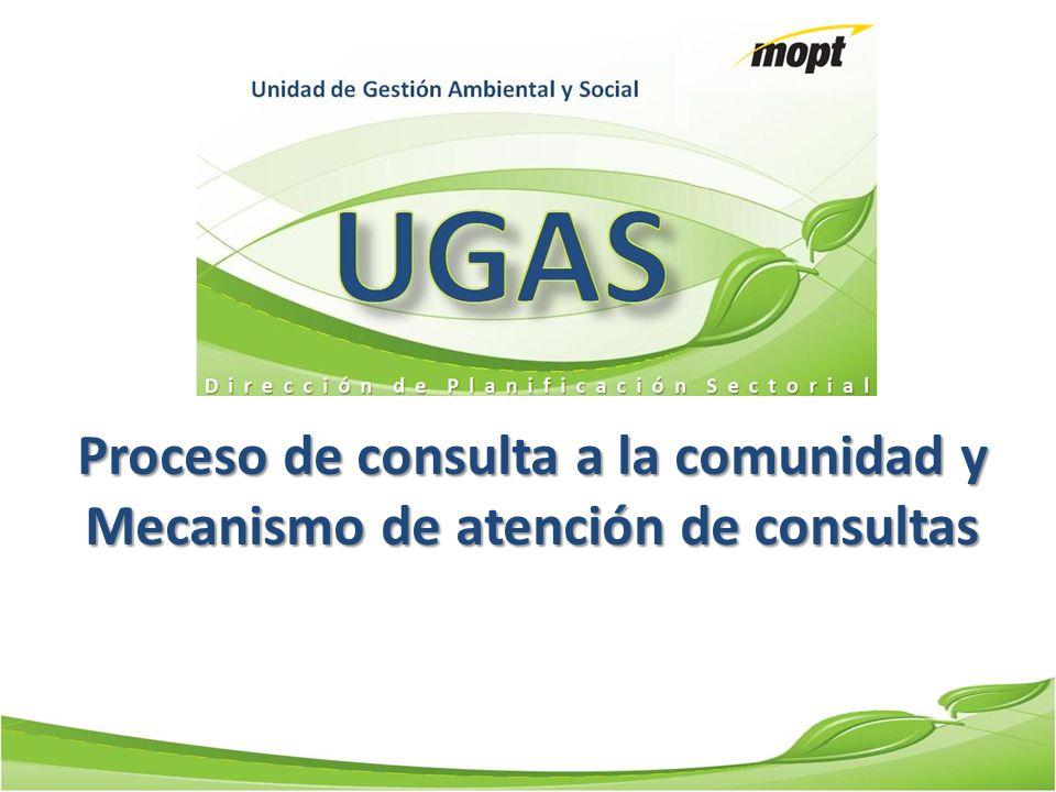 Proceso de consulta a la comunidad y Mecanismo de atención de consultas