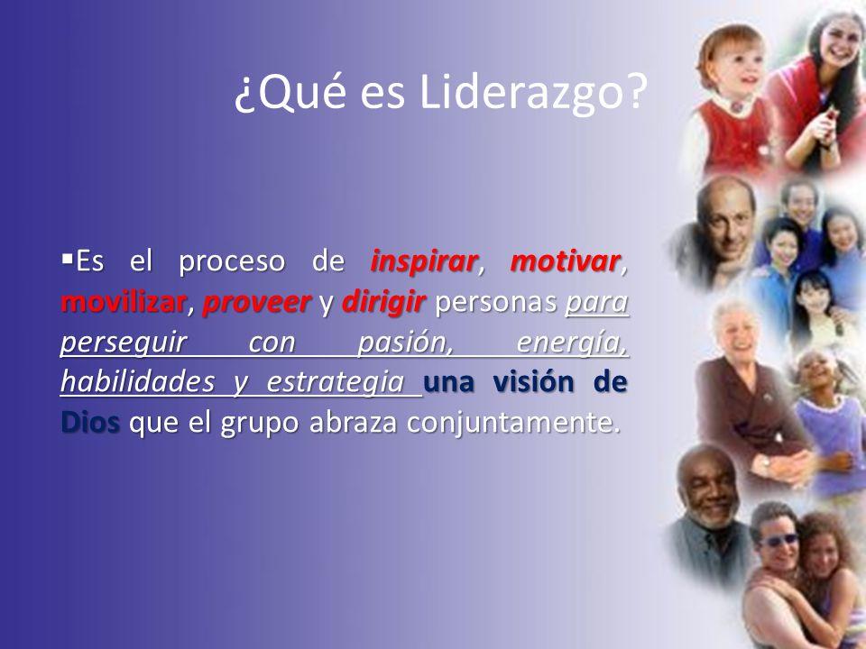¿Qué es Liderazgo? Es el proceso de inspirar, motivar, movilizar, proveer y dirigir personas para perseguir con pasión, energía, habilidades y estrate