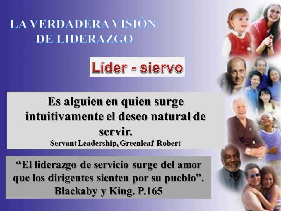SEMINARIO SOBRE LIDERAZGO Es alguien en quien surge intuitivamente el deseo natural de servir. Servant Leadership, Greenleaf Robert El liderazgo de se
