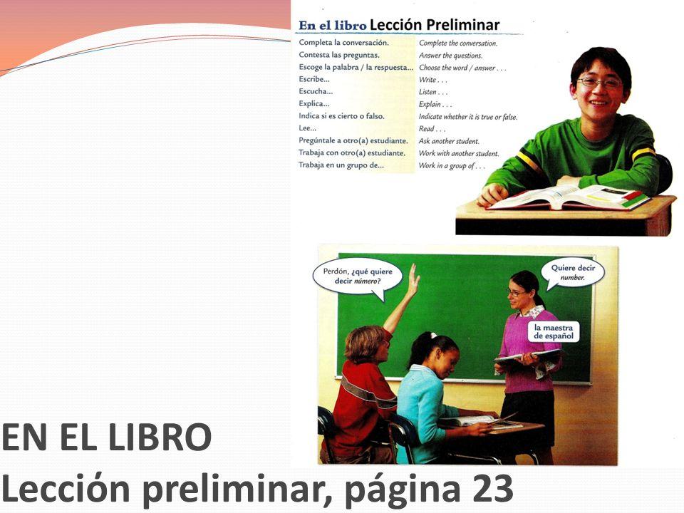 EN EL LIBRO Lecciόn preliminar, página 23