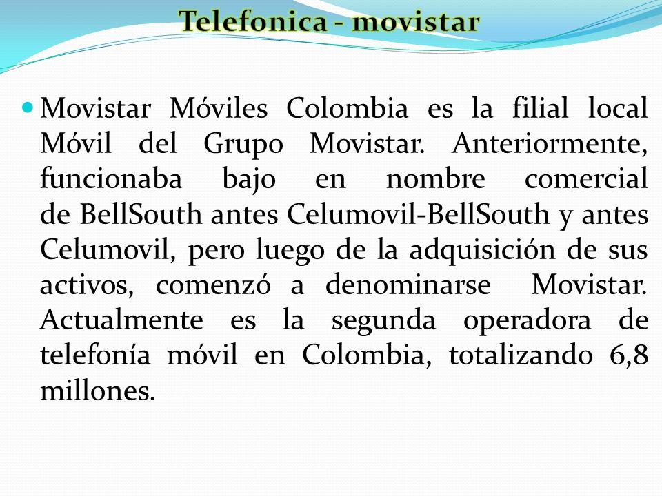 Movistar Móviles Colombia es la filial local Móvil del Grupo Movistar. Anteriormente, funcionaba bajo en nombre comercial de BellSouth antes Celumovil