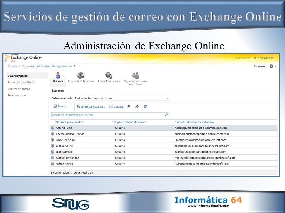 Administración de Exchange Online
