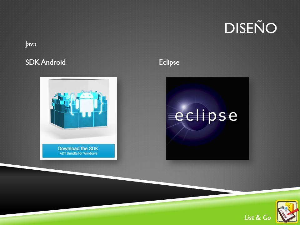 DISEÑO Java SDK AndroidEclipse List & Go