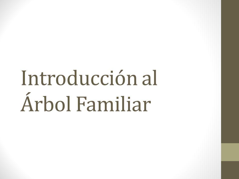 Agenda Bendiciones y oportunidades de Historia Familiar Árbol Familiar Propósito Funciones Recursos