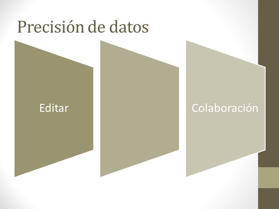 Precisión de datos EditarColaboración