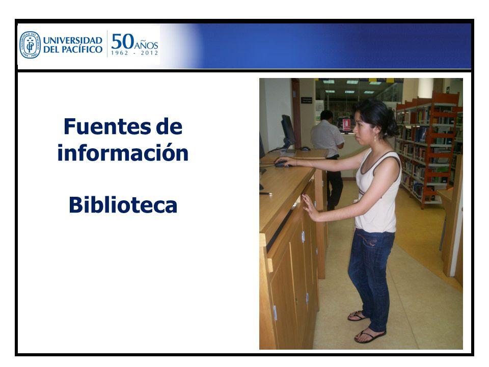 Fuentes de información Biblioteca