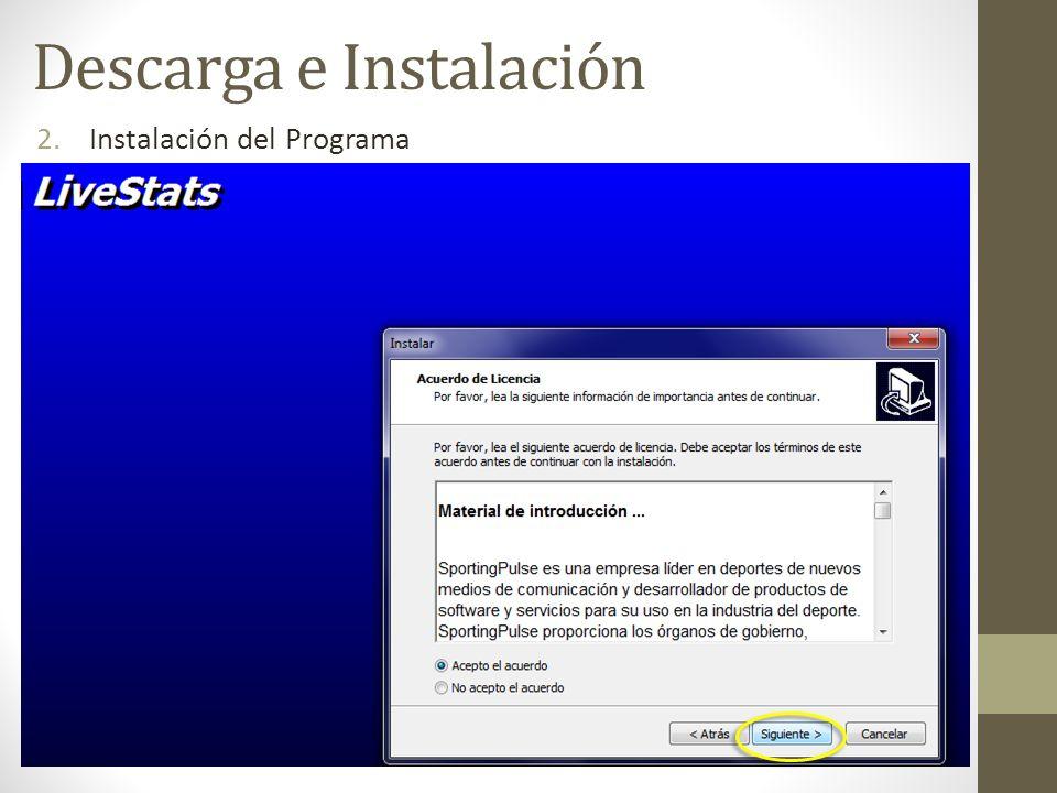 2.Instalación del Programa Descarga e Instalación