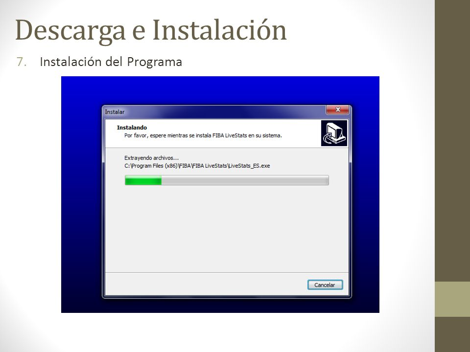 7.Instalación del Programa Descarga e Instalación