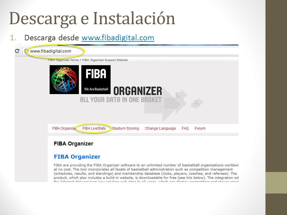 Descarga e Instalación 1.Descarga desde www.fibadigital.com